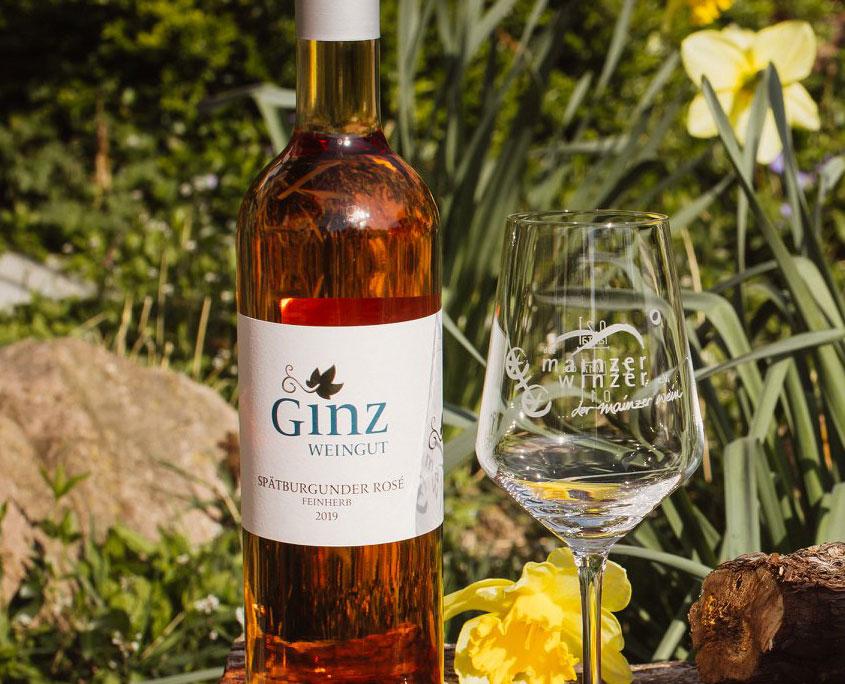 Weingut Ginz Etikett weiß